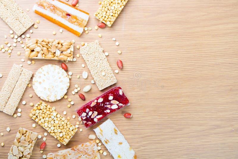 Sammlung Bohnen-Süßigkeiten und Bonbons Mawlid Halawa stockbild
