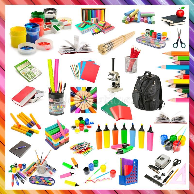 Sammlung Briefpapier und Schulbedarf lizenzfreies stockfoto