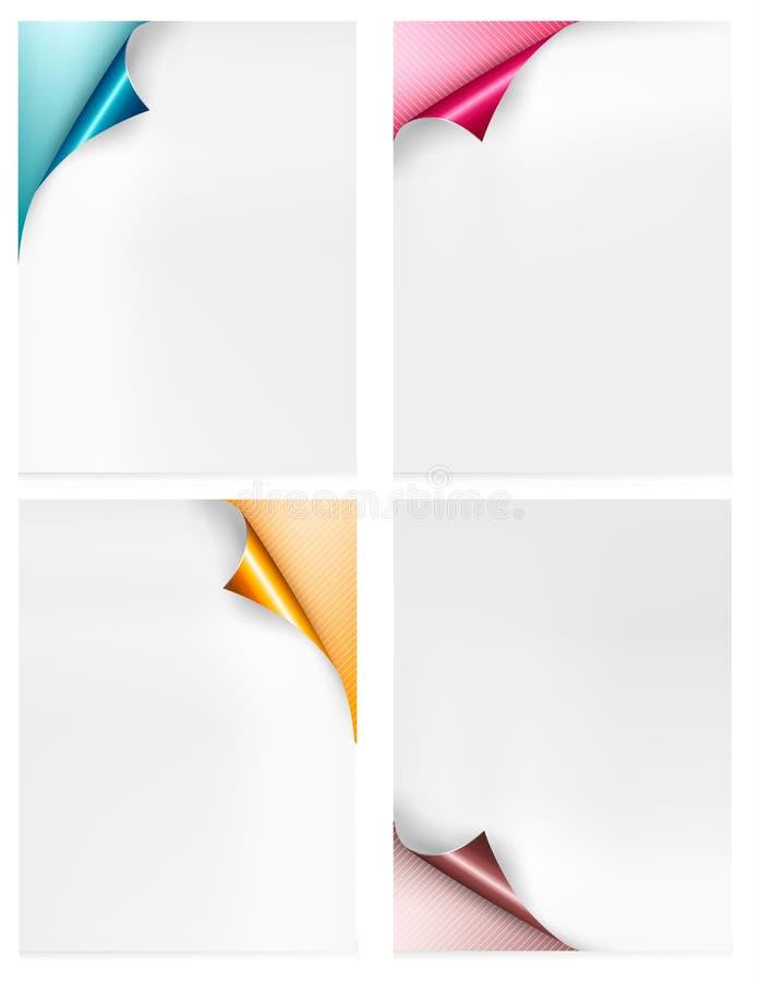 Sammlung bunte Papierfahnen. Papierentwurf vektor abbildung