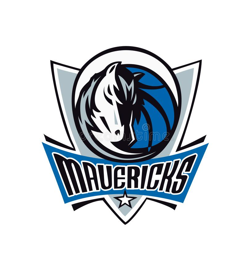 Sammlung der NBA-Team-Logovektorillustration lizenzfreie abbildung