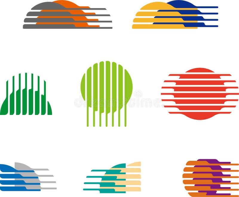 Sammlung des Bereichvektor-Logosatzes stock abbildung