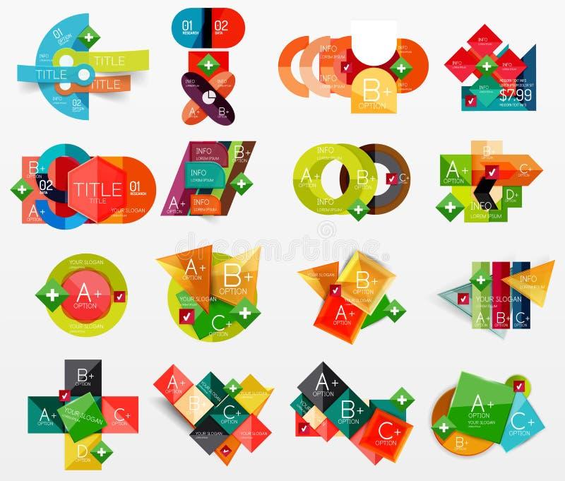 Sammlung des modernen Geschäfts infographic stock abbildung