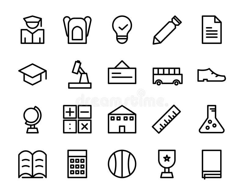Sammlung des Schulikonensatzes schließen Sie Illustrator der Datei ENV 8 mit ein vektor abbildung