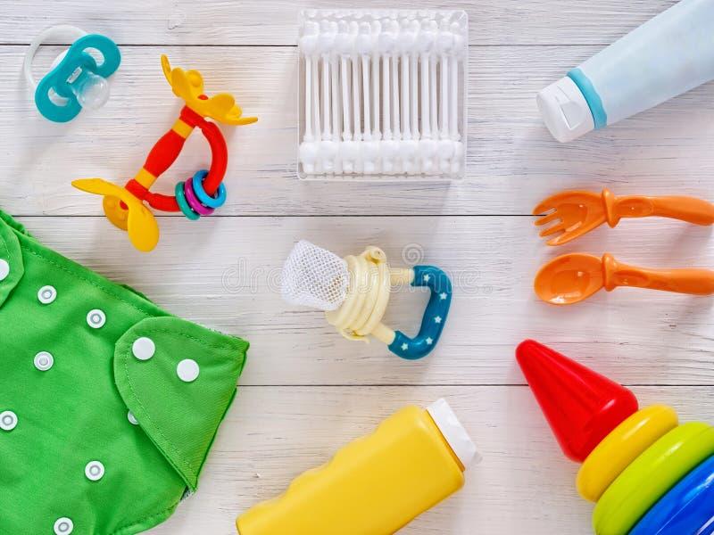 Sammlung Einzelteile für Draufsicht der Babys lizenzfreie stockfotos