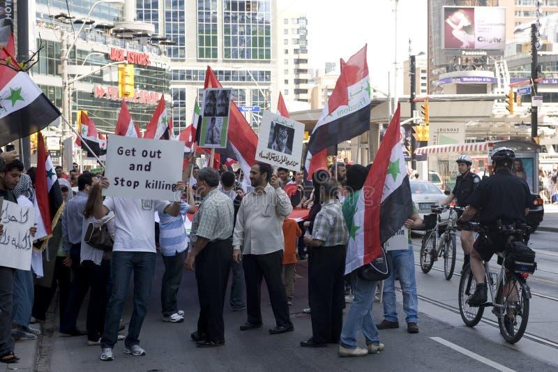 Sammlung für syrische Freiheit in Toronto stockfotografie