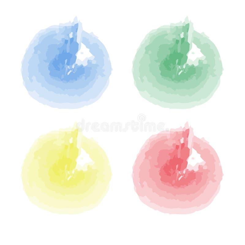 Sammlung Farbenspritzen Vektorsatz Bürstenanschläge Getrennt auf weißem Hintergrund lizenzfreie abbildung