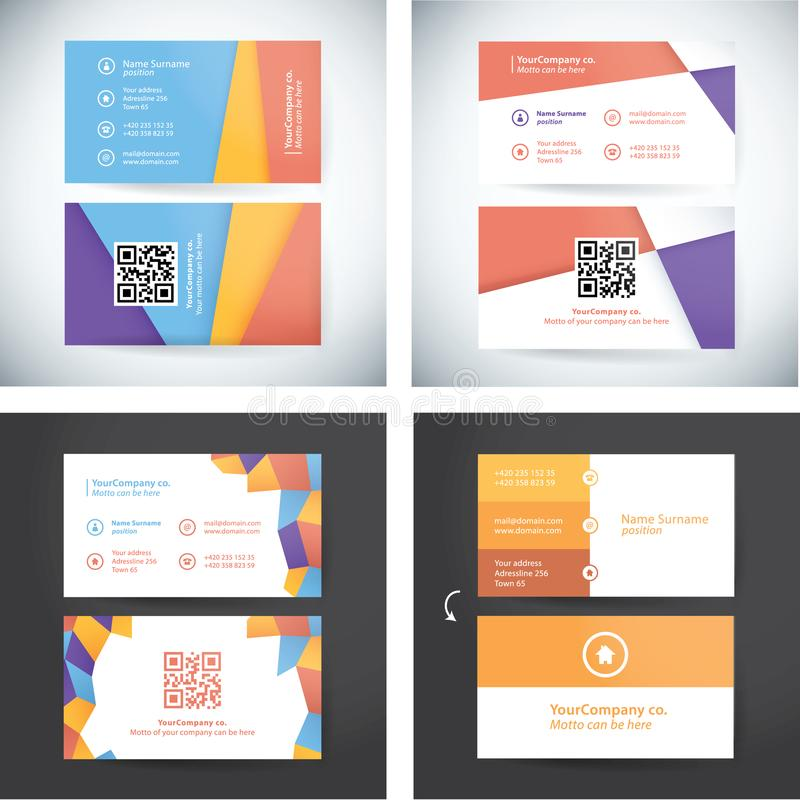 Sammlung gebrauchsfertige Visitenkarten lizenzfreie abbildung