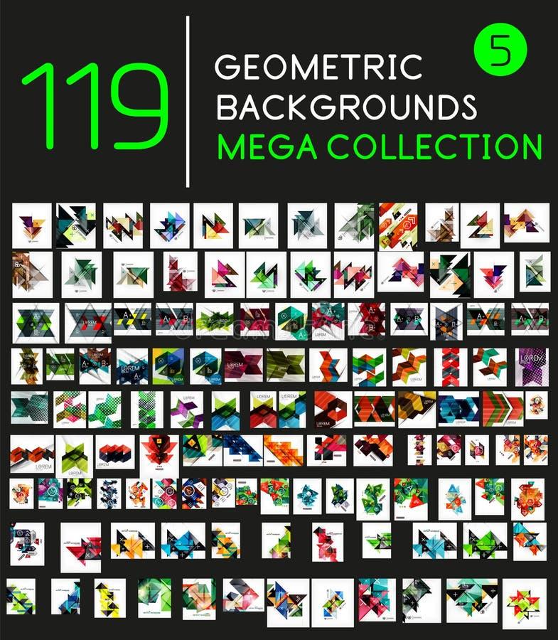 Sammlung geometrische Formhintergründe vektor abbildung