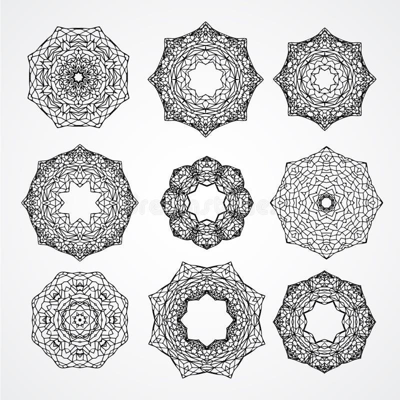 Sammlung gotische Kirchenfenster oder -rahmen für Buntglas vektor abbildung