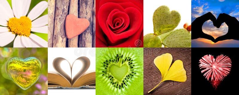 Sammlung Herzen, Liebesvalentinsgrußtageskonzept stockfoto