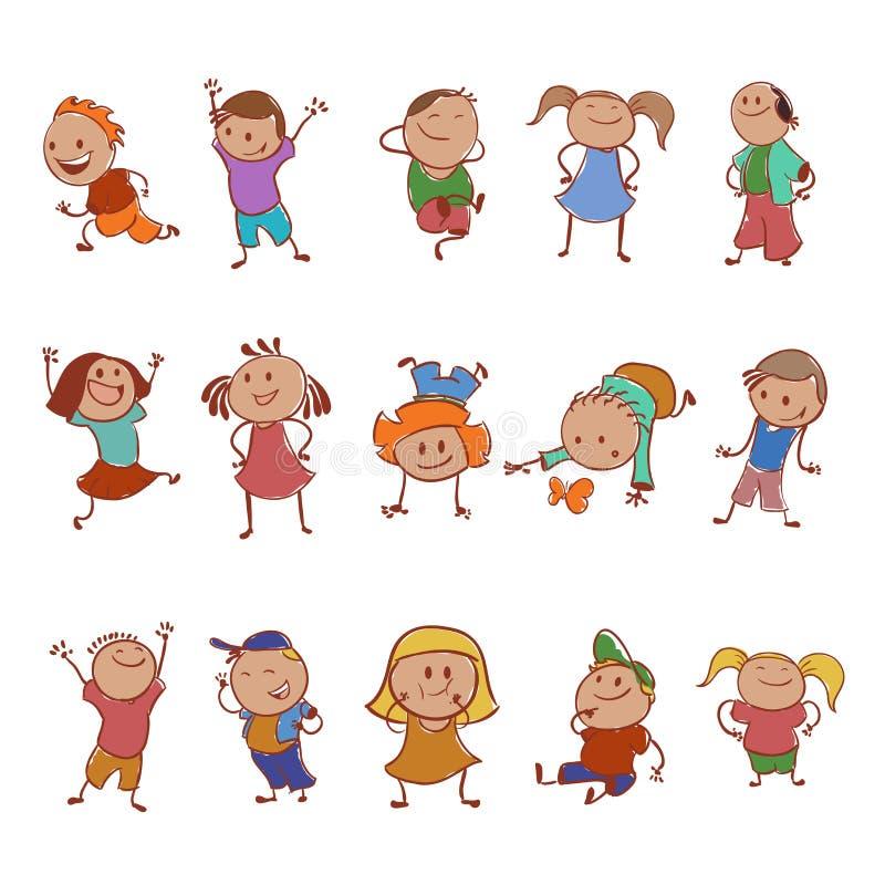 Sammlung Ikonen mit den Kindern lizenzfreie abbildung