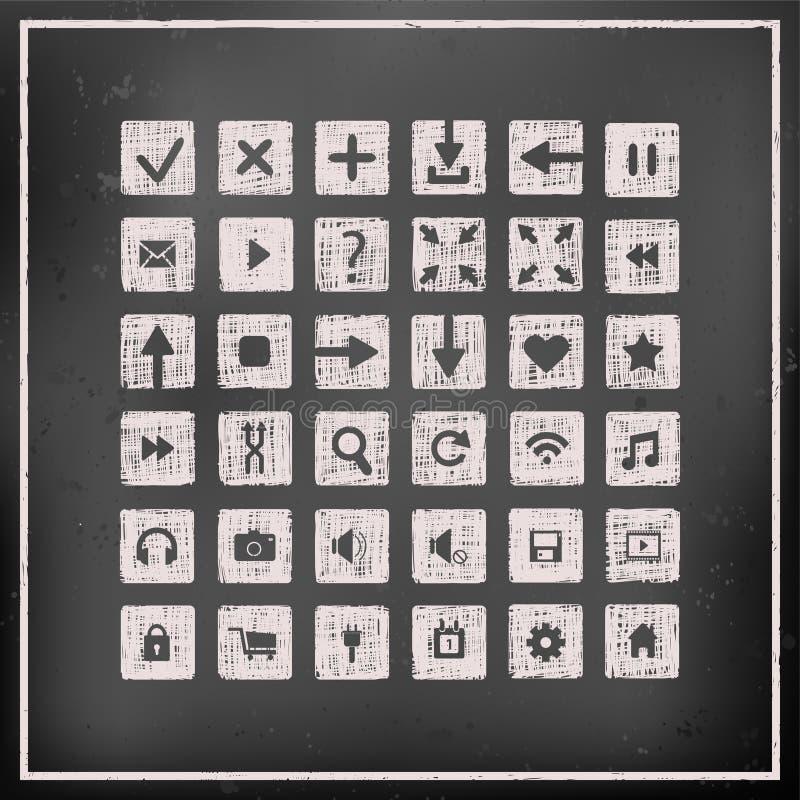 Sammlung Ikonen, Webdesignelemente vektor abbildung