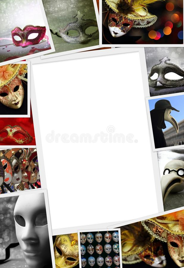 Sammlung Karnevalsfotos stockfoto