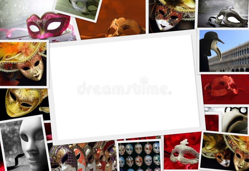 Sammlung Karnevalsfotos stockbilder