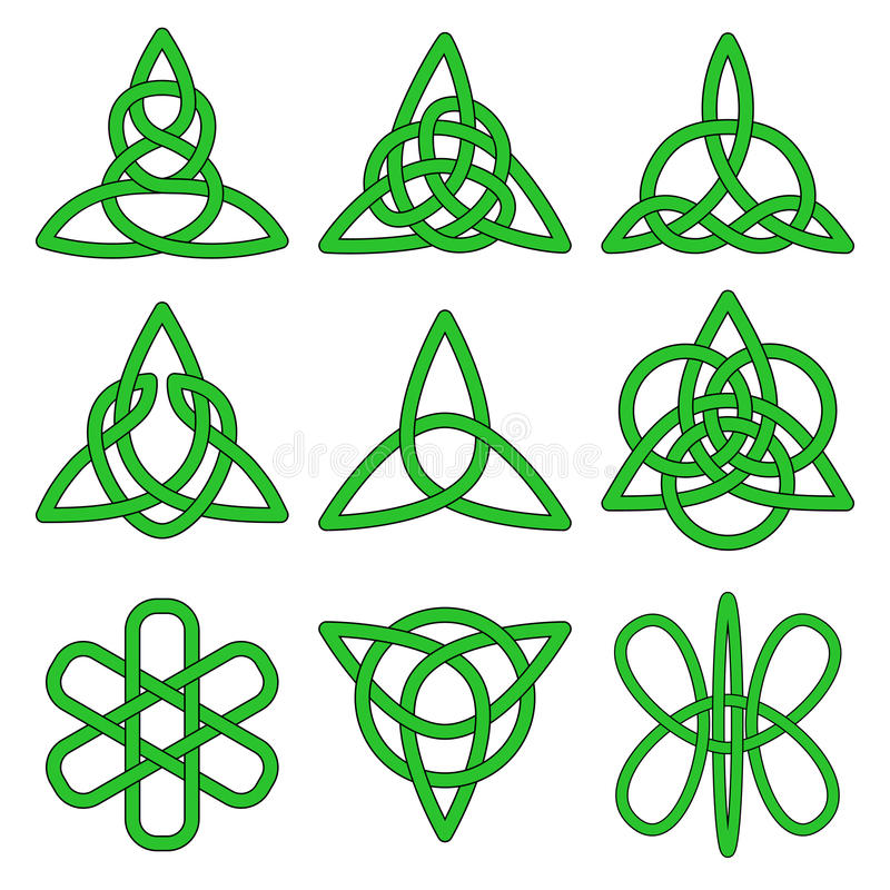 Sammlung keltische Knoten stock abbildung