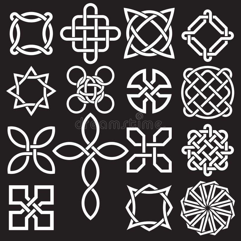 Sammlung keltische Knoten-Designe im Vektor-Format stock abbildung