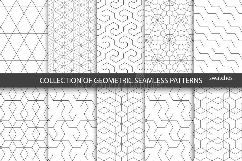 Sammlung nahtlose ornametal Muster vektor abbildung