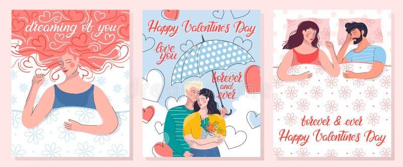 romantische paarkarte vektor abbildung illustration von