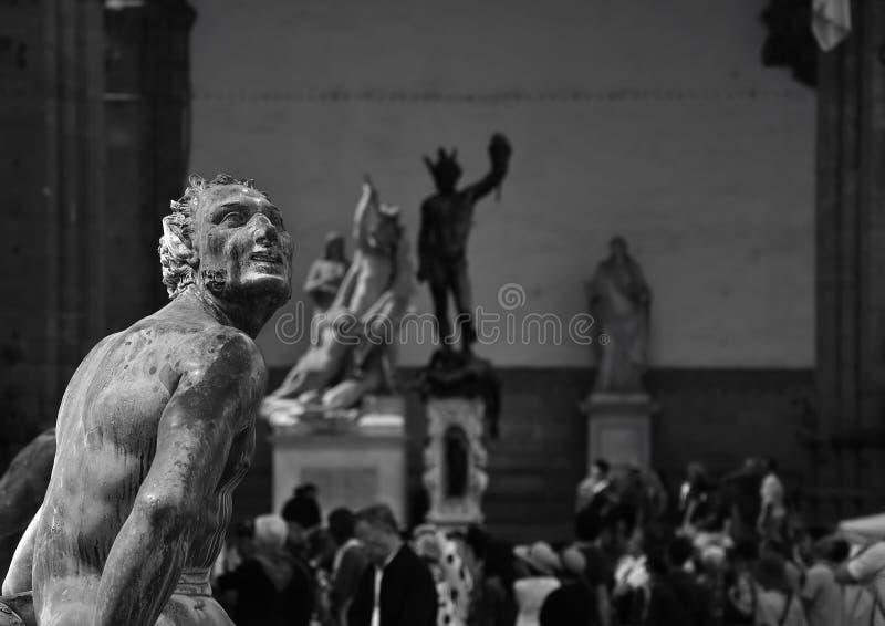 Sammlung Statuen auf Marktplatz della Signoria, Florida lizenzfreies stockfoto