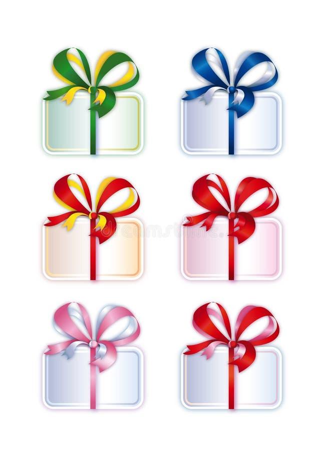 Sammlung Tieds Kästen mit Geschenken stockbild