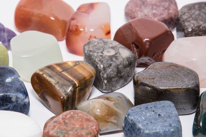 Sammlung unterschiedliches Farbedelsteinedelsteinjuwel-Mineral preciou stockbild