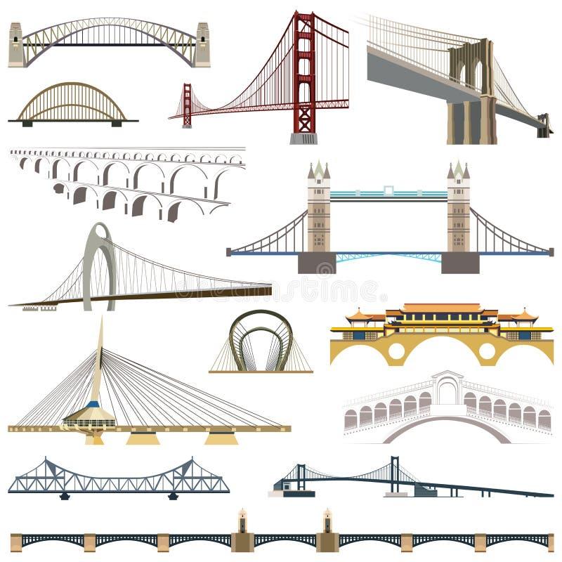 Sammlung Vektorbrücken lizenzfreie abbildung