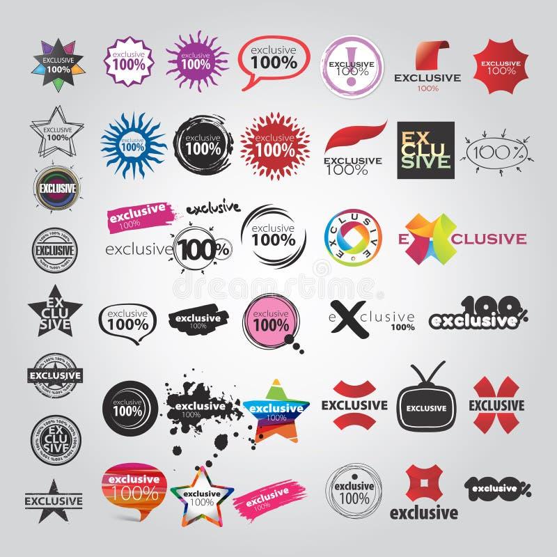 Vector die Sammlung der Logozeichenzeiger stock abbildung