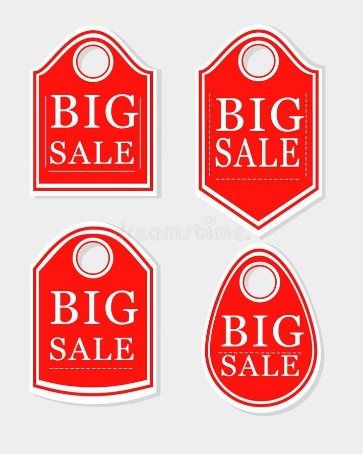 Sammlung Verkaufsherbstfahnen stockfoto