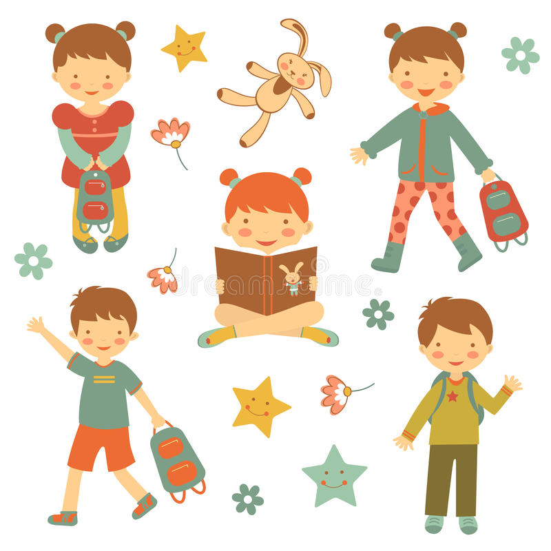 Sammlung verschiedene Kinder lizenzfreie abbildung