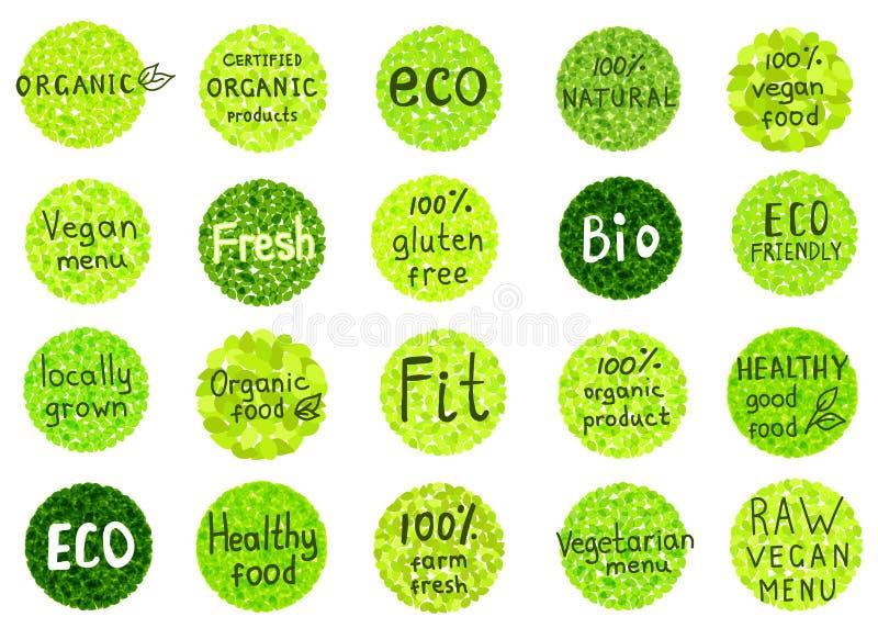 Sammlung von organischem, natürlich, Bio, Bauernhof, gesundes Lebensmittel wird deutlich lizenzfreie abbildung
