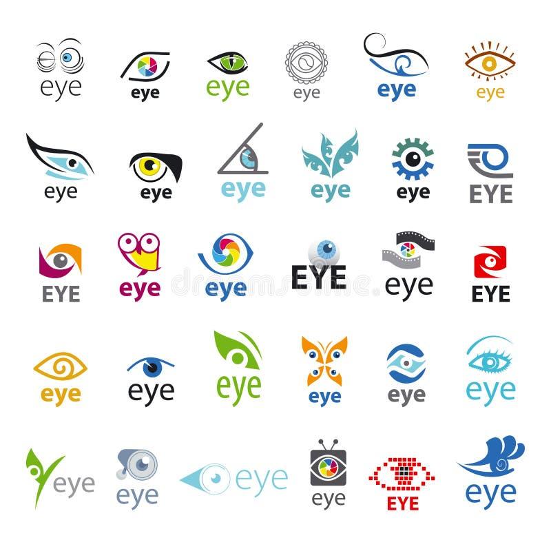 Sammlung von Vektorlogos Auge stock abbildung