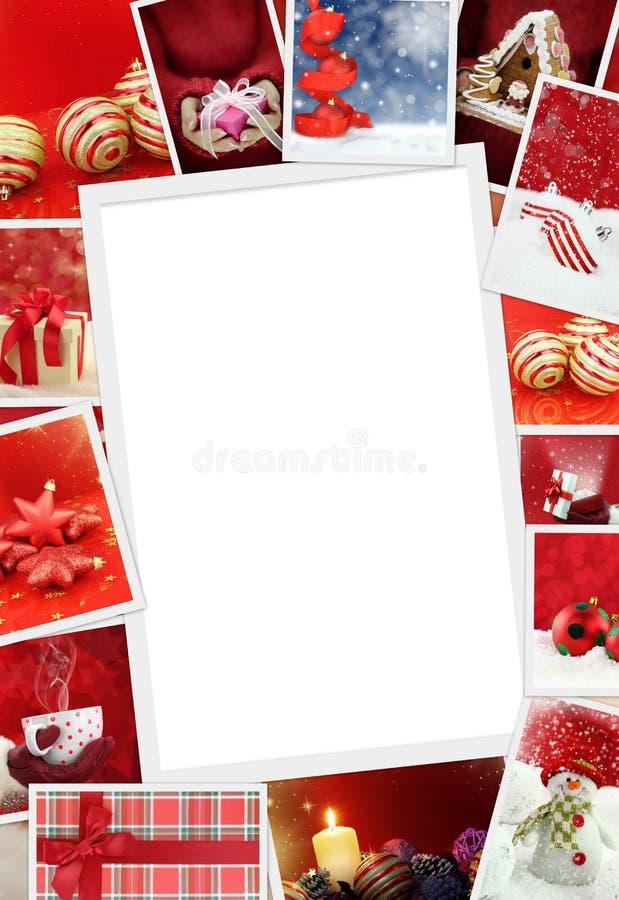 Sammlung Weihnachtsfotos lizenzfreies stockfoto