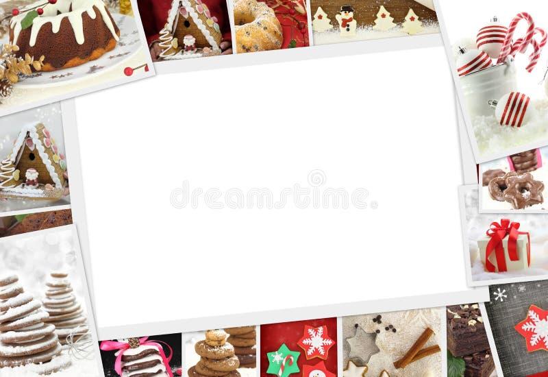 Sammlung Weihnachtsfotos von Konfektionsartikeln lizenzfreies stockbild