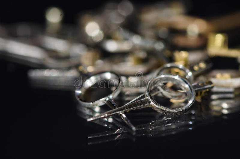 Sammlung Weinlese-metallische Taschen-Uhr-Regler lizenzfreie stockfotografie