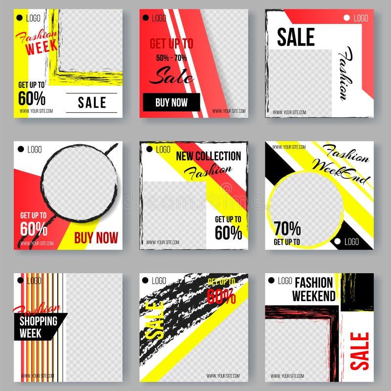 Sammlungs-Hintergründe mit geometrischen Formen lizenzfreie abbildung
