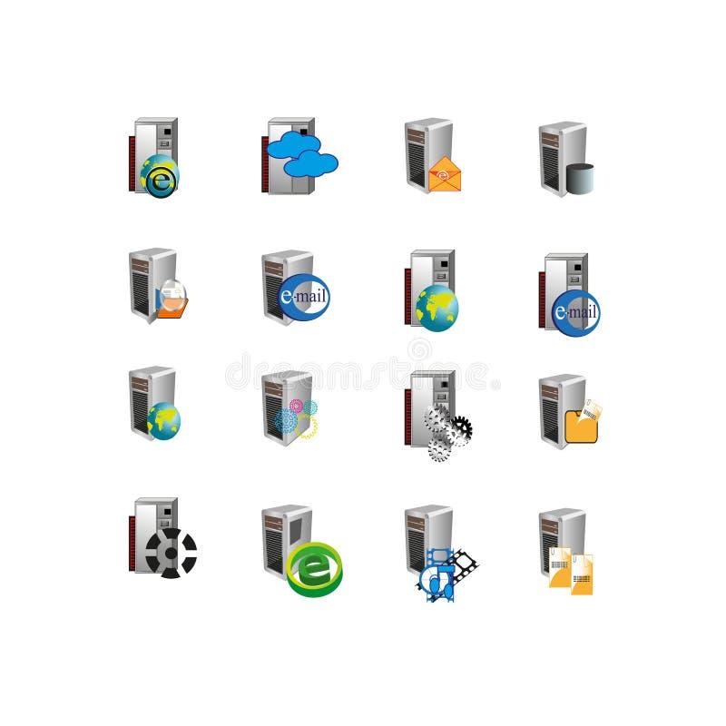 Sammlungs-web- serverikonensymbol vektor abbildung