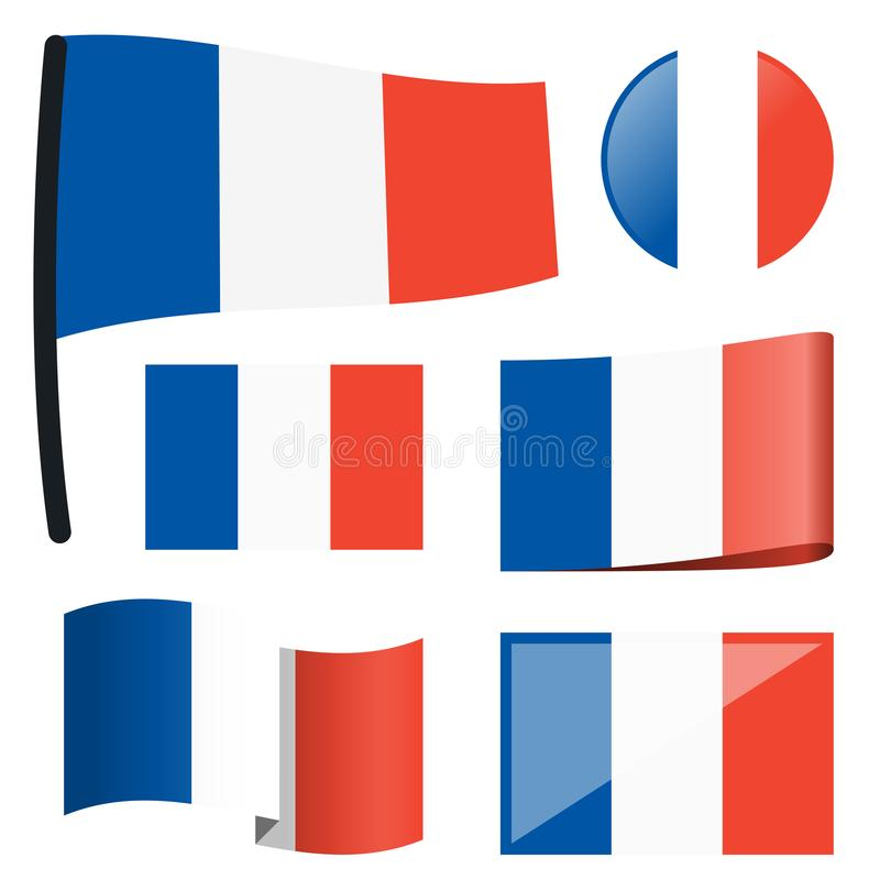 Sammlungsflaggen Frankreich stock abbildung