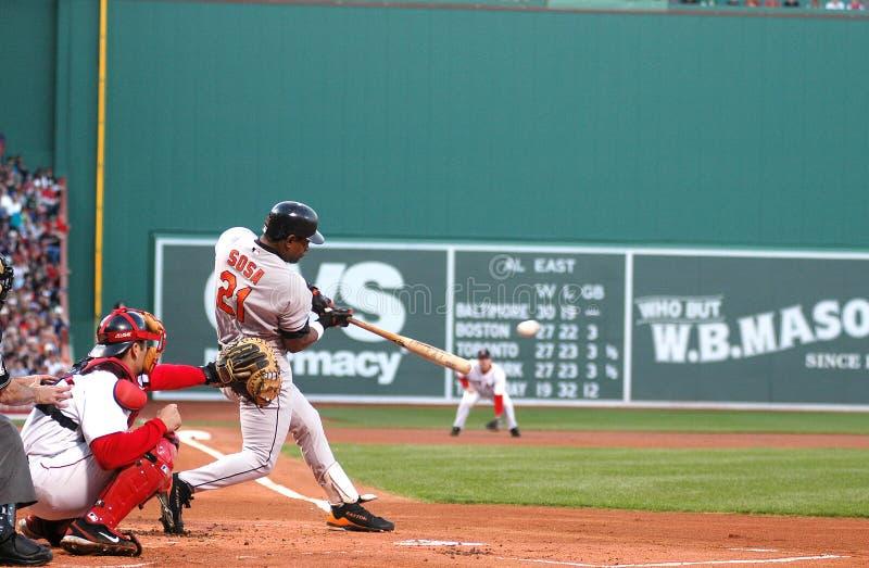 Sammy Sosa Baltimore Orioles. Baltimore Orioles DH, Sammy Sosa #21 stock image