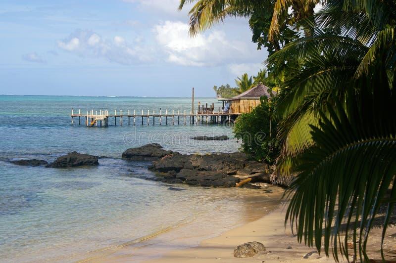 Samoa beachscape stockbilder