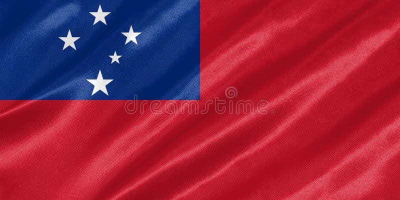 Samoa flagga stock illustrationer