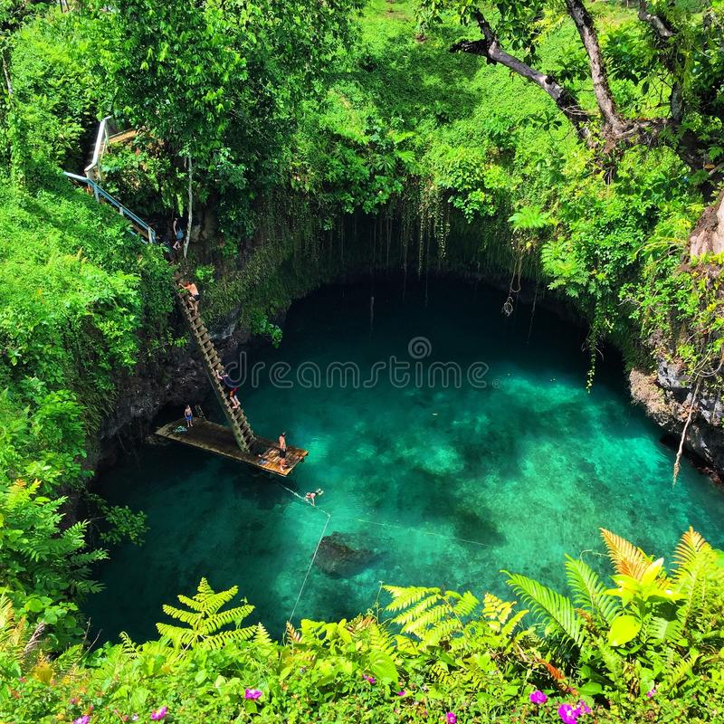Samoa to sua stock image