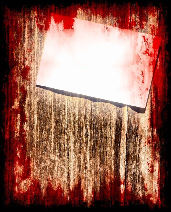 Samobójstwo krwista notatka na grunge drewnianym tle halloween ilustracji
