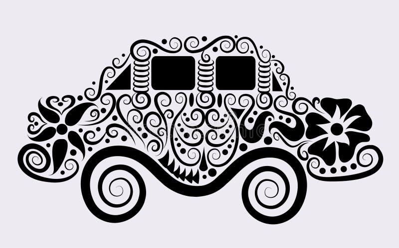 samochód dekoracyjny royalty ilustracja