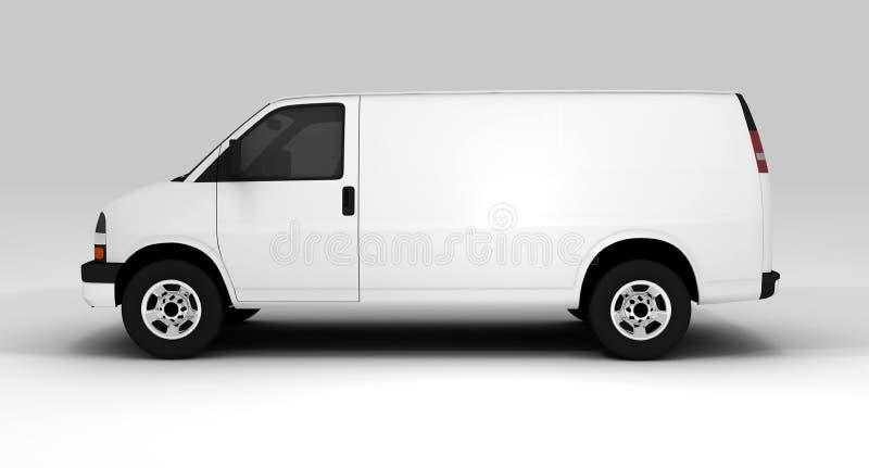 samochód dostawczy biel ilustracja wektor