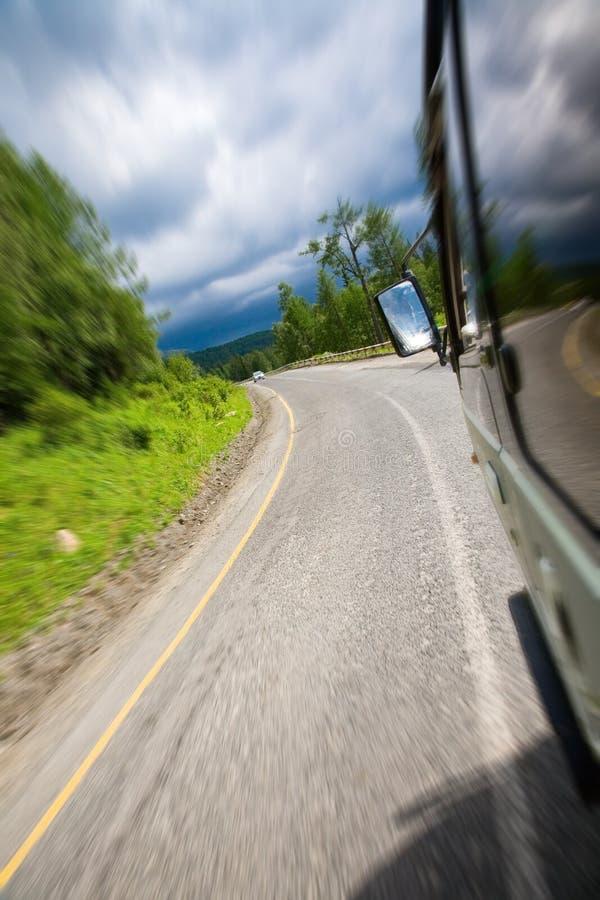 samochód dostawczy okno Widok obraz royalty free