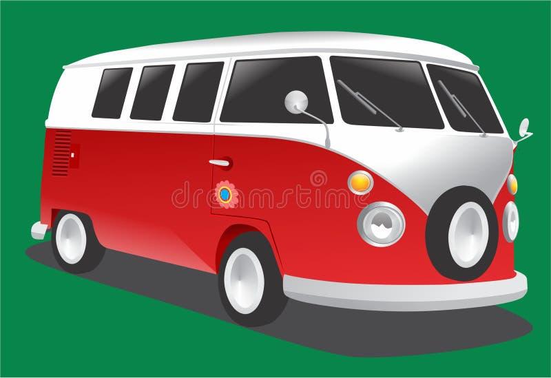 samochód dostawczy Rocznik ilustracja wektor