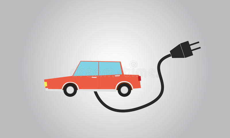 samochód elektryczny ilustracji