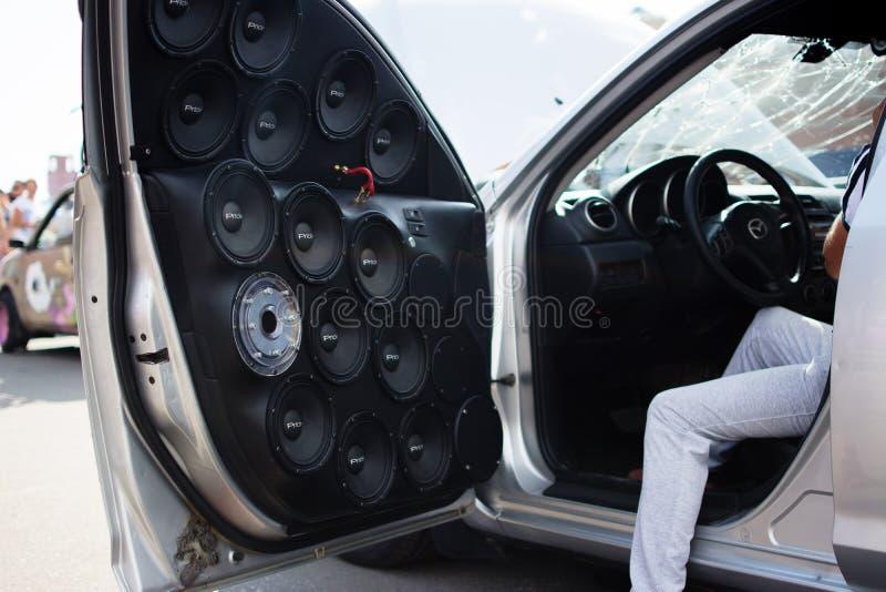 Samochód i moto wystawa obraz stock