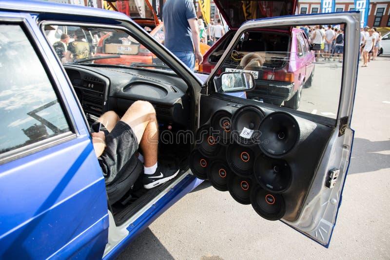 Samochód i moto wystawa fotografia royalty free
