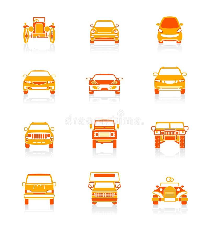 samochód ikon soczyste serii royalty ilustracja